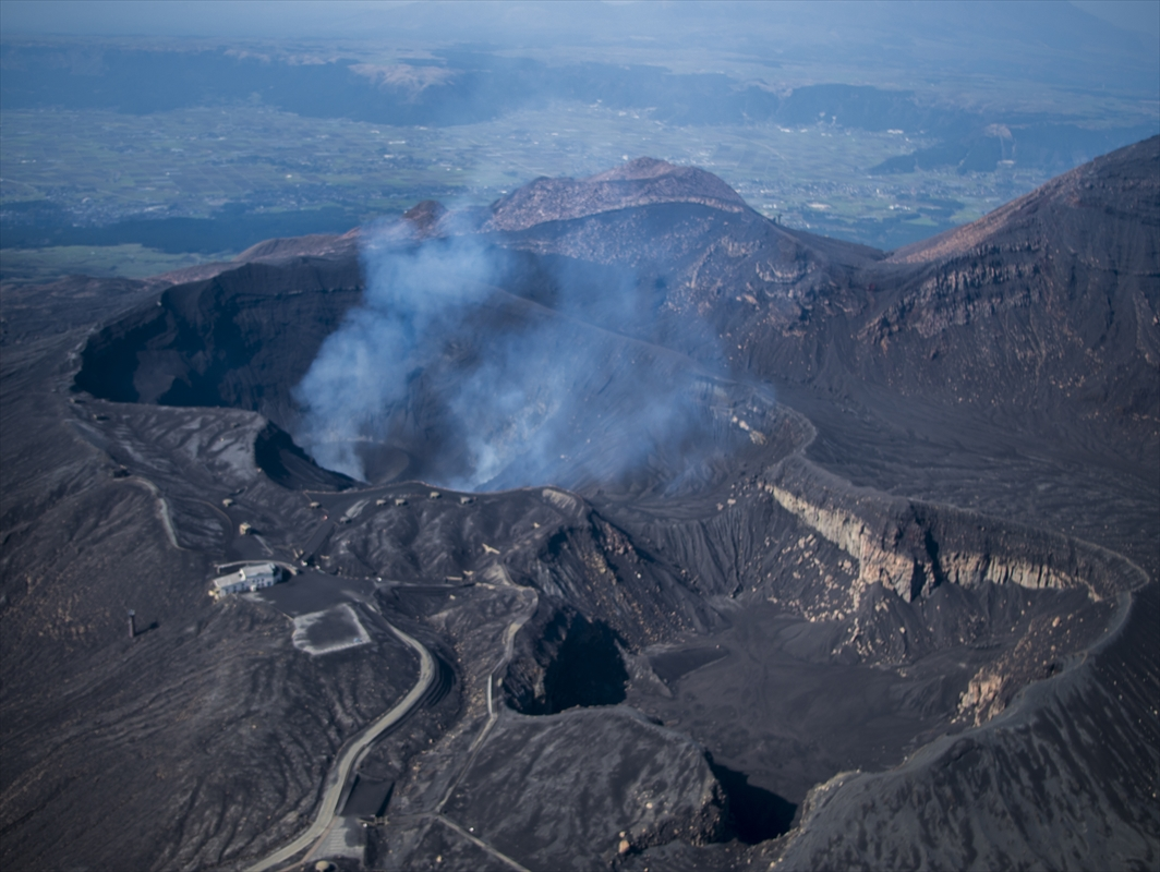 Volcanic Alert Level Reduced at Mt Aso